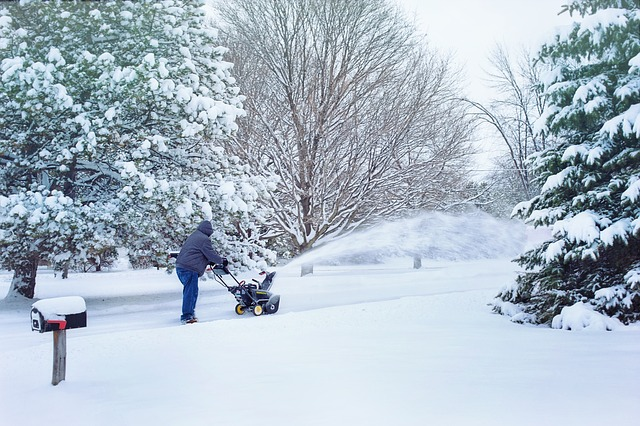 Battery operated snow blower